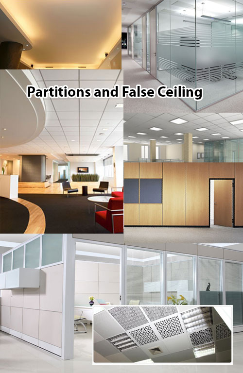 partiton and fall ceiling