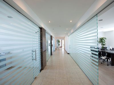 Glass-Partition-Wall-with-frosted-sticker-dubai